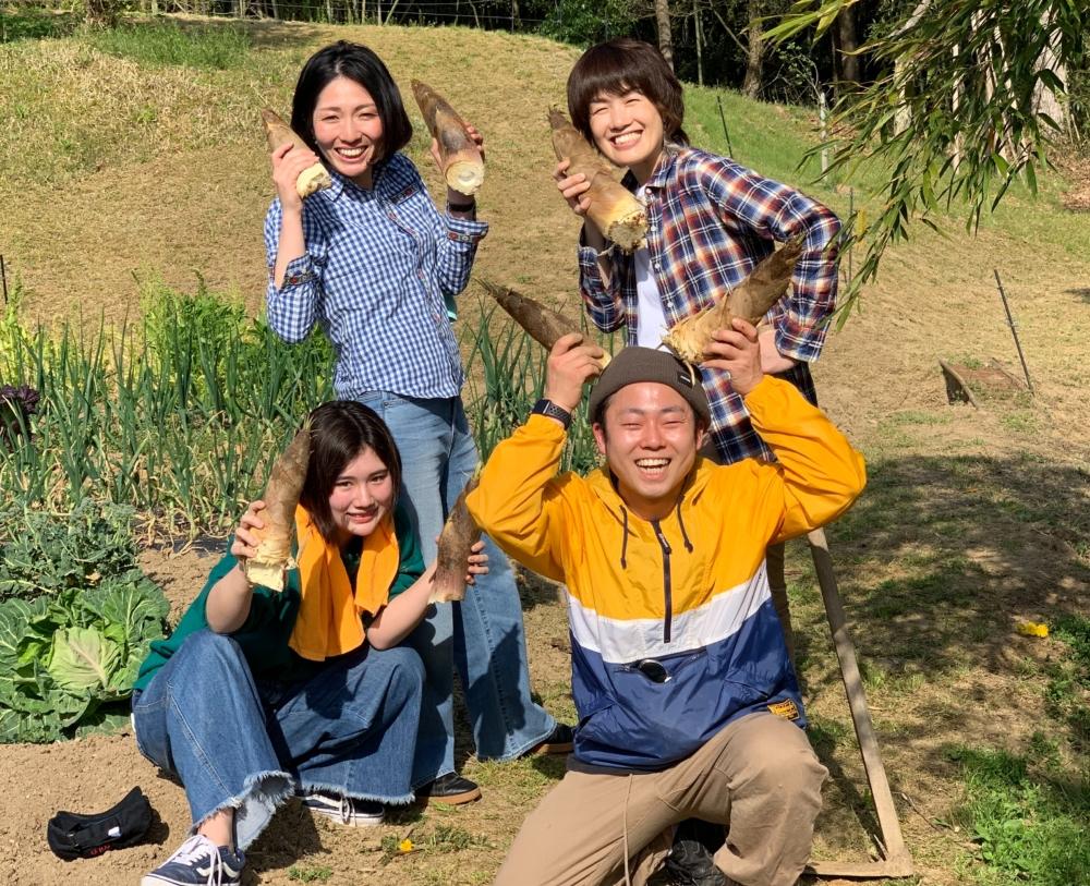 岡山県真庭市 たけのこ 掘り