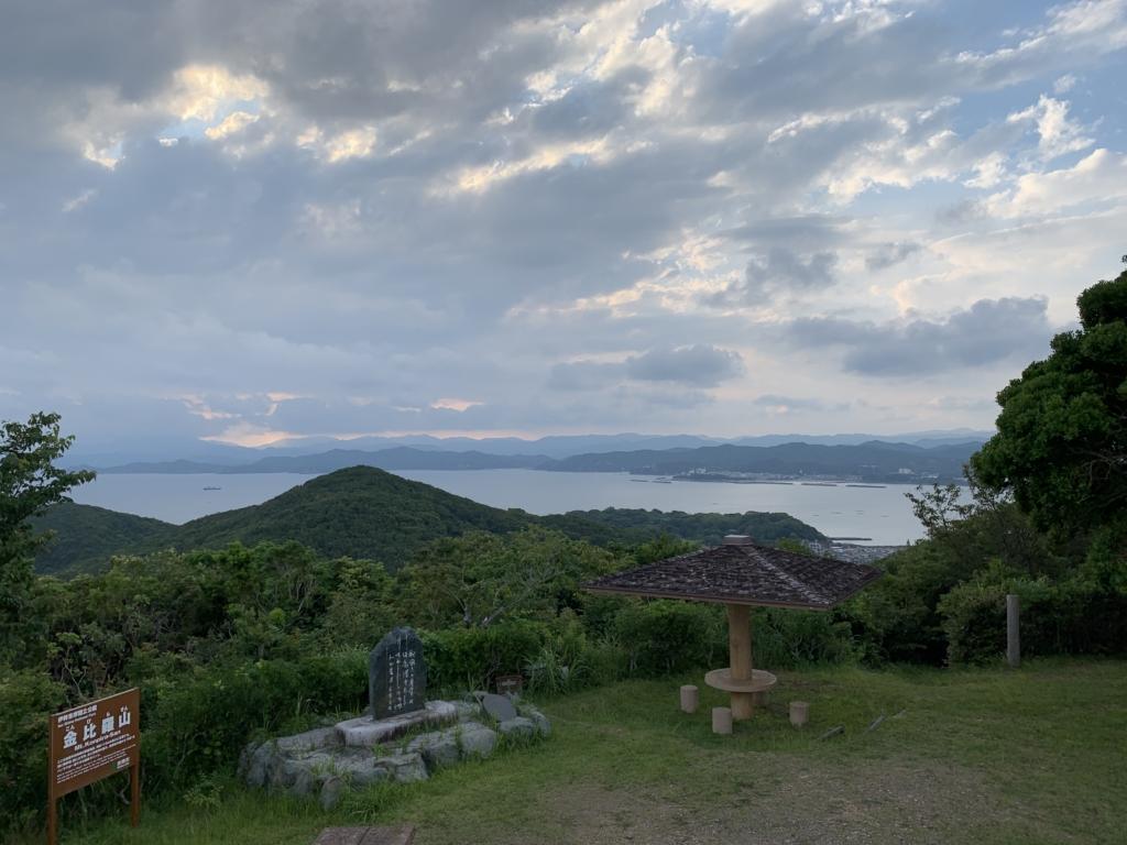 三重県 金比羅山 展望台 360度