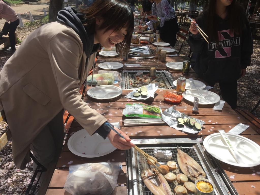 大阪城 桜 花見 BBQ