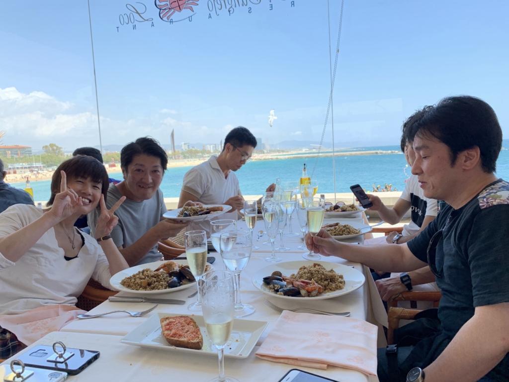 海沿い レストラン パエリア