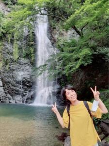 箕面の滝 大阪 マイナスイオン
