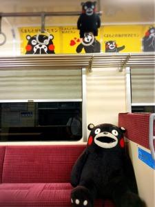 くまもん 電車 熊本